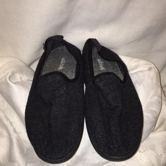 Allbirds Womens  Sz 7 Natural Black on Black Wool Lounger Shoes Loafer NEW